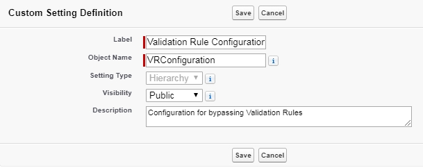 Screenshot of Custom Metadata
